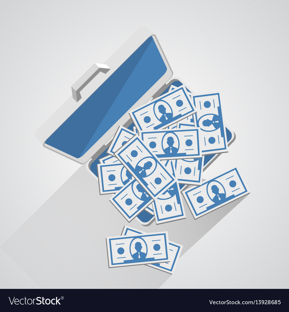 Case with money vector image