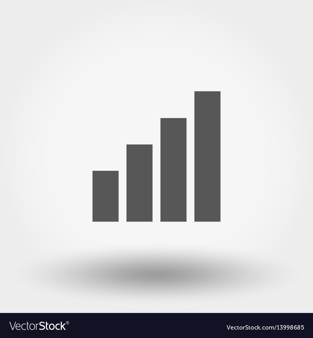 Chart diagram icon vector image