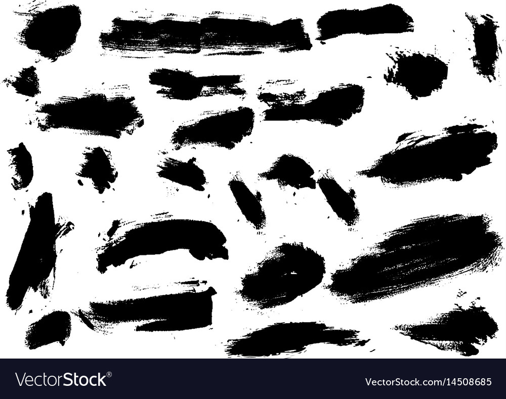 Detail Brush Paint Stroke Collection Royalty Free Vector