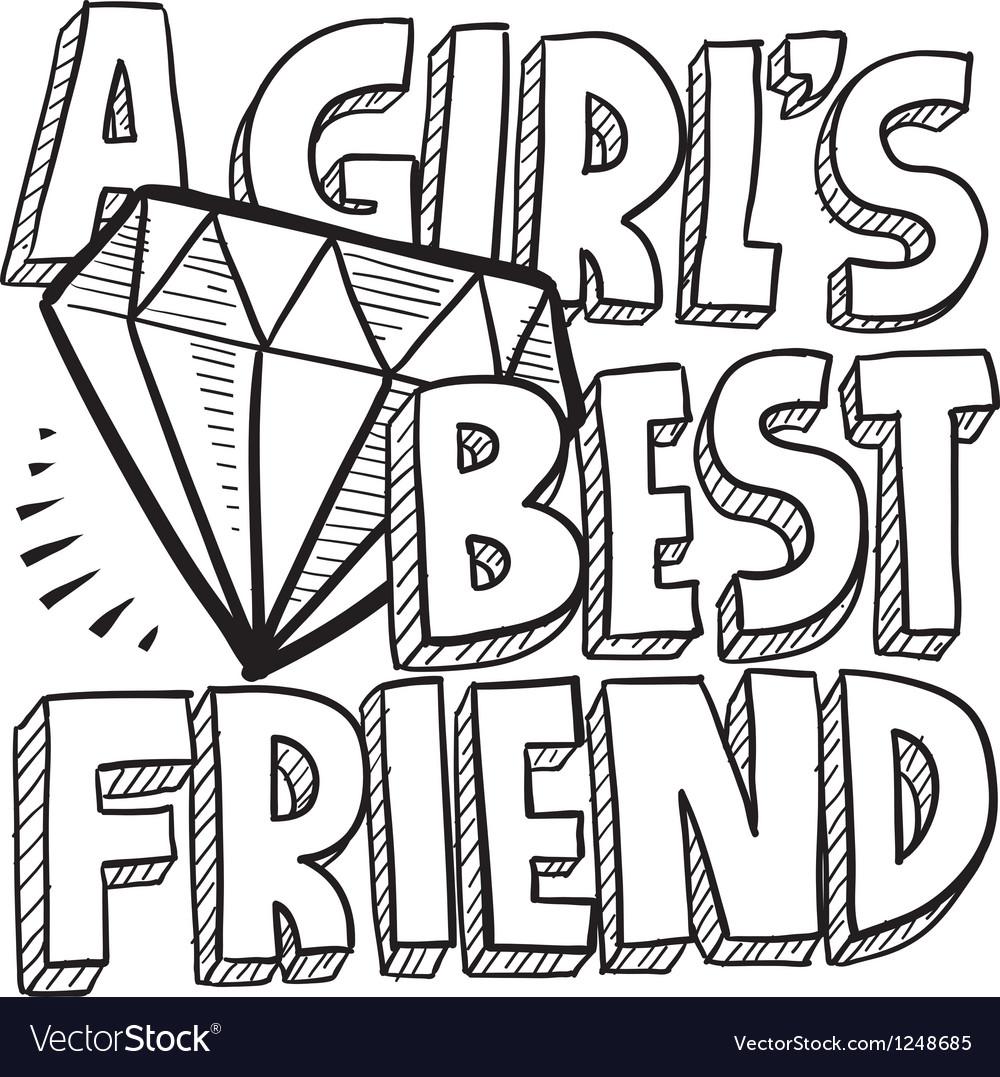 Diamonds are a girls best friend vector image