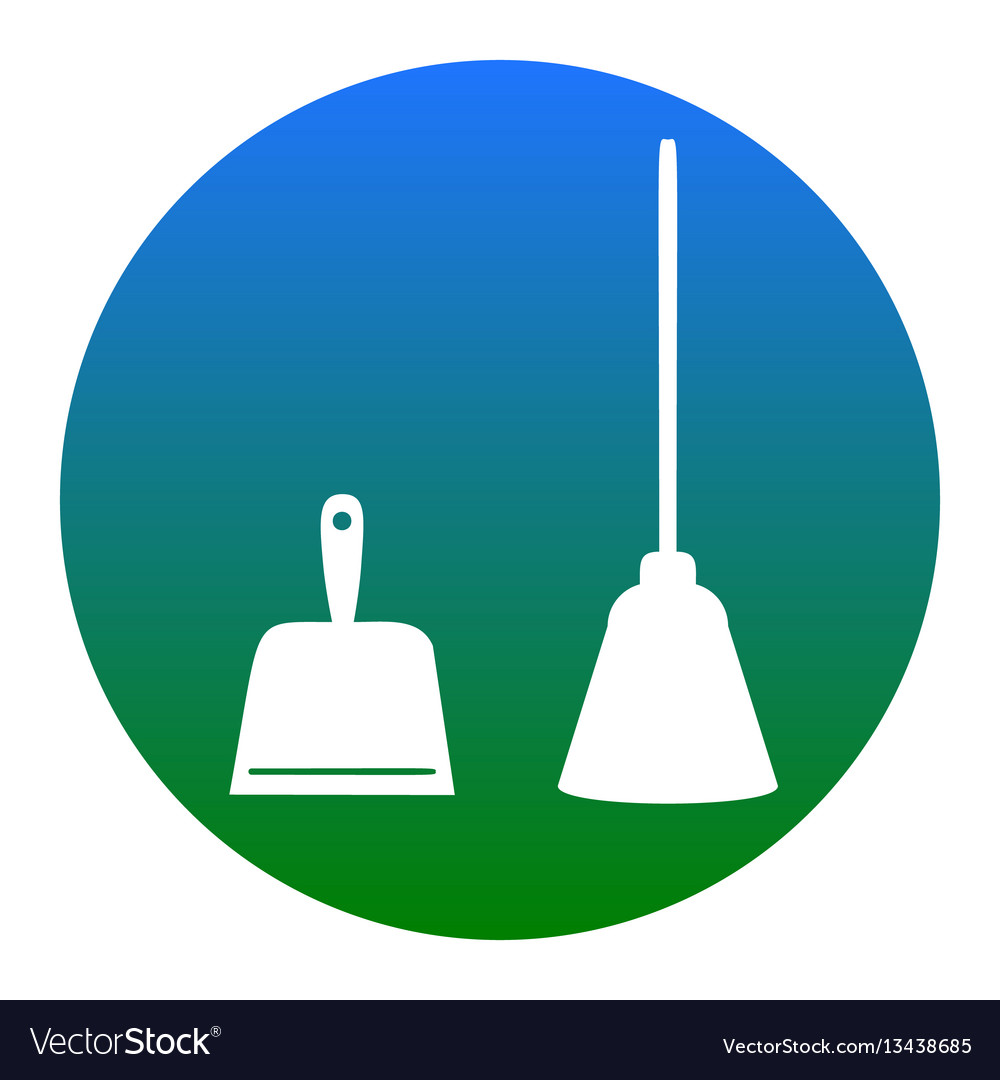 Dustpan sign scoop for cleaning garbage