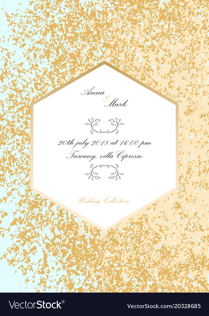 Glitter wedding invitation royalty free vector image glitter wedding invitation vector image stopboris Image collections