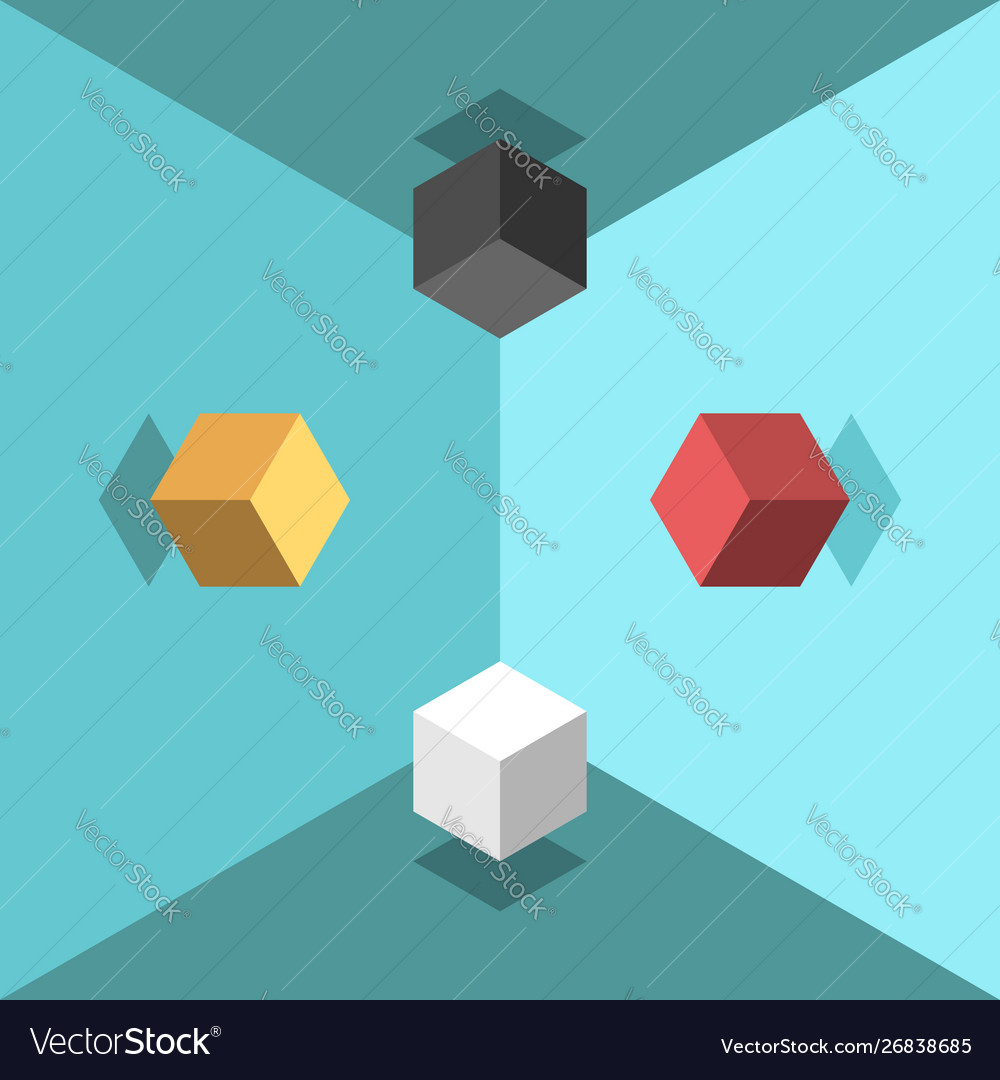 Isometric cubes chaos concept
