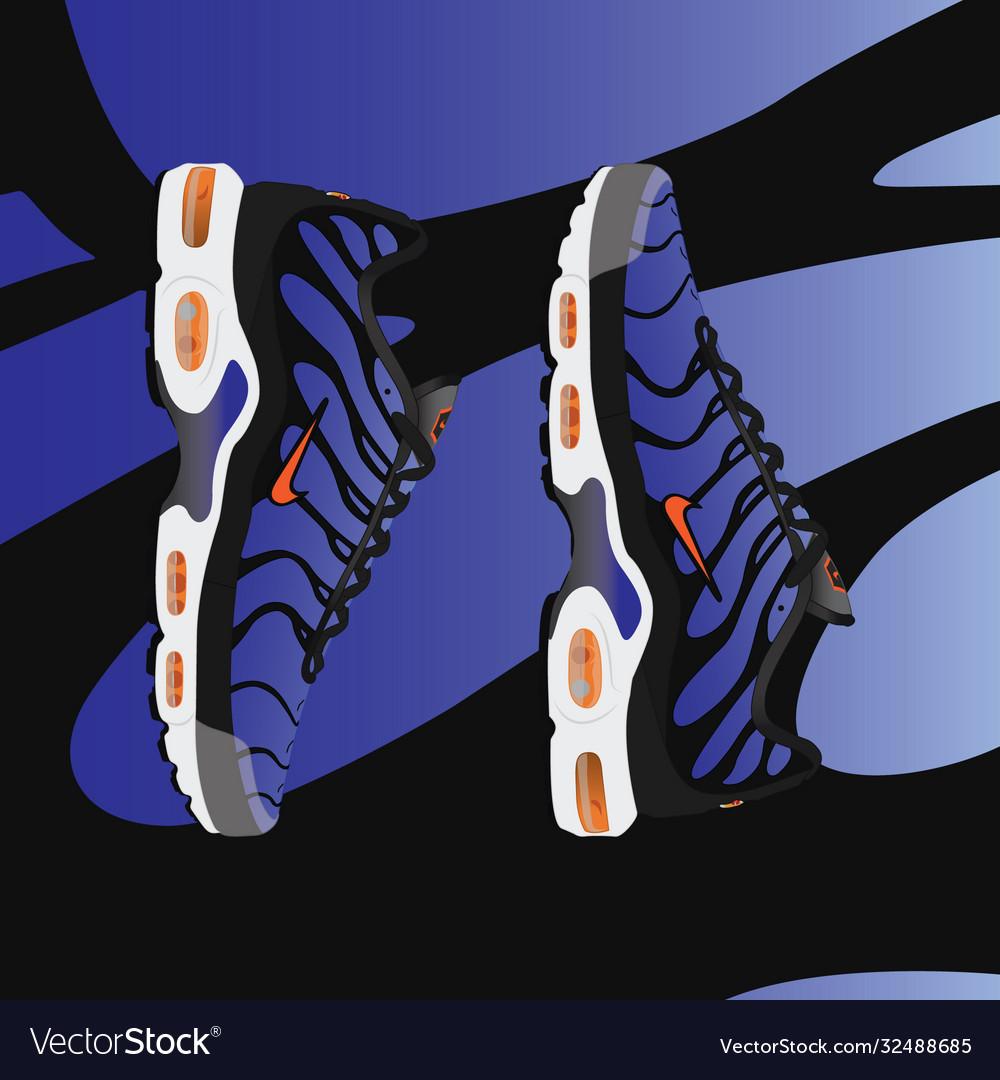 Nike air max plus tn og Royalty Free Vector Image