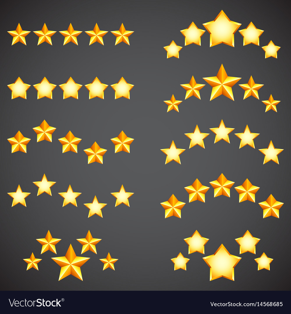 Star rating icons vector image