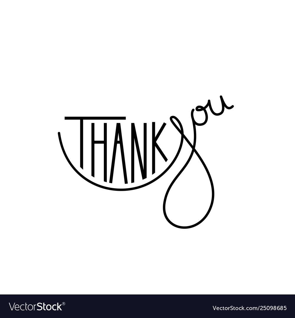 Thank you handwritten inscription