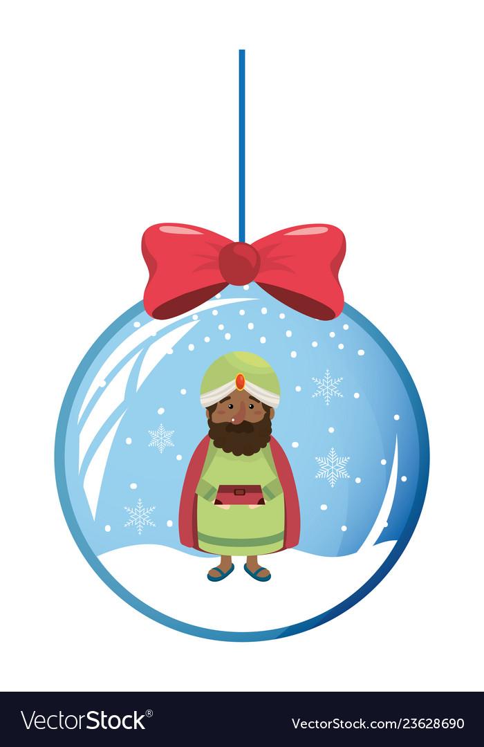 Christmas nativity scene cartoon