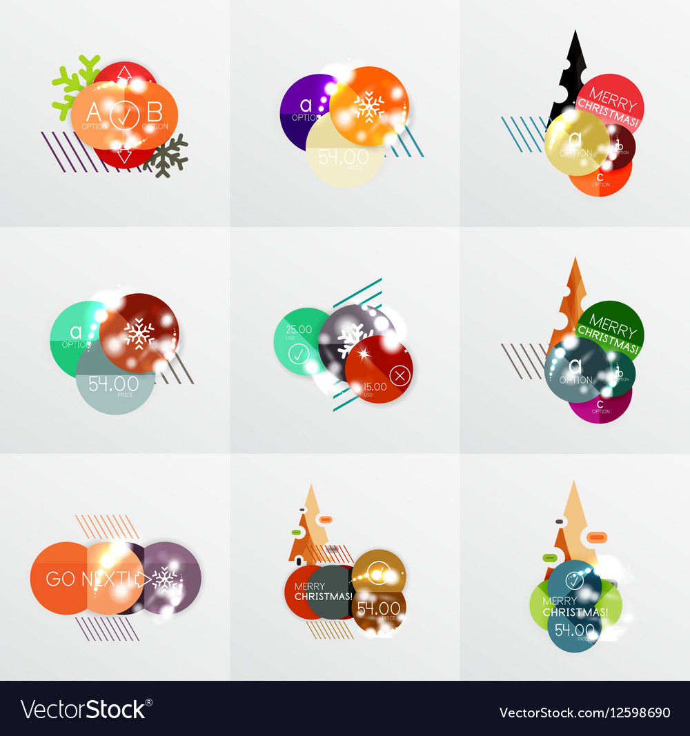 Collection of Christmas Sale Stickers Labels and