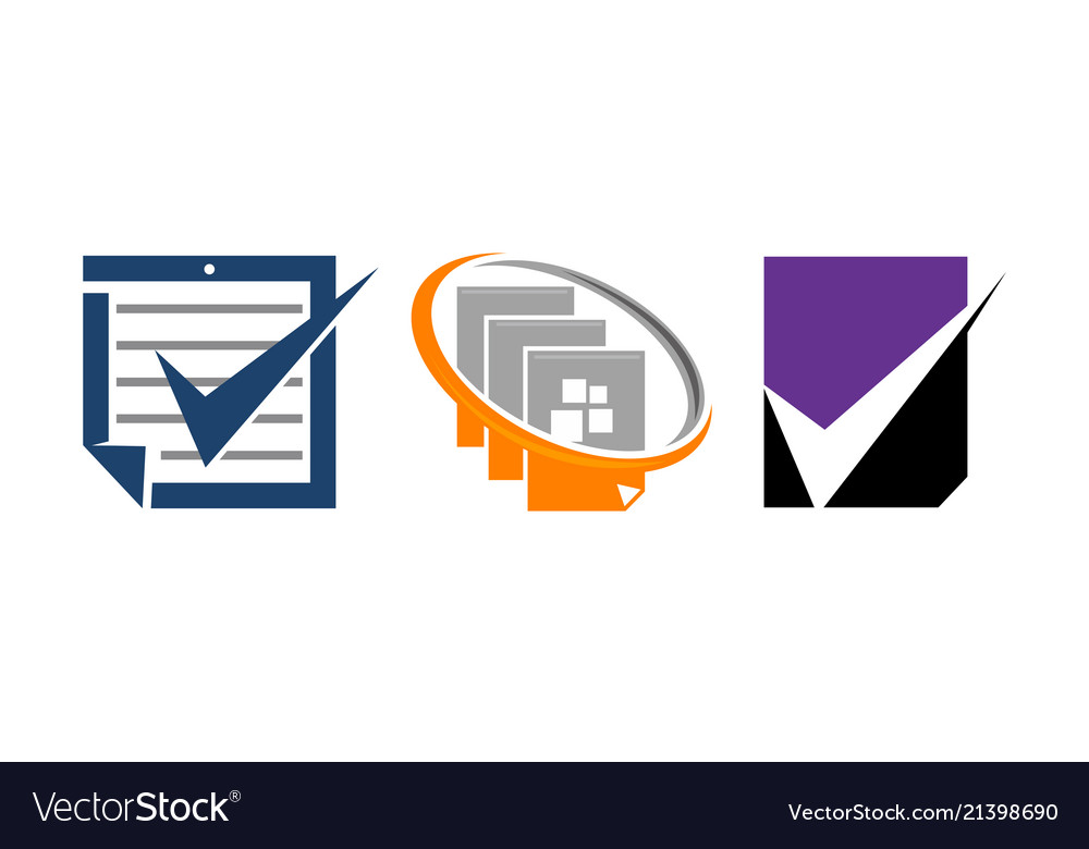 Document Checklist Template Set Royalty Free Vector Image