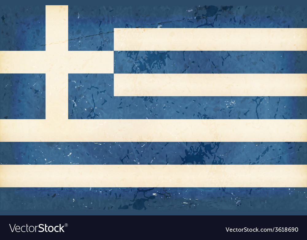 Flag of Greece with grunge elements