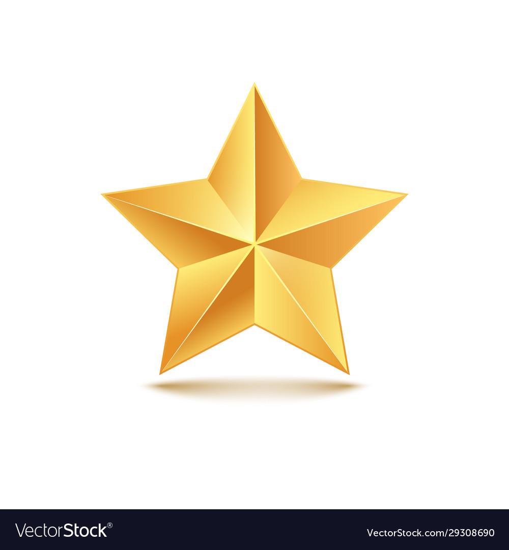 Golden star 3d gold medal
