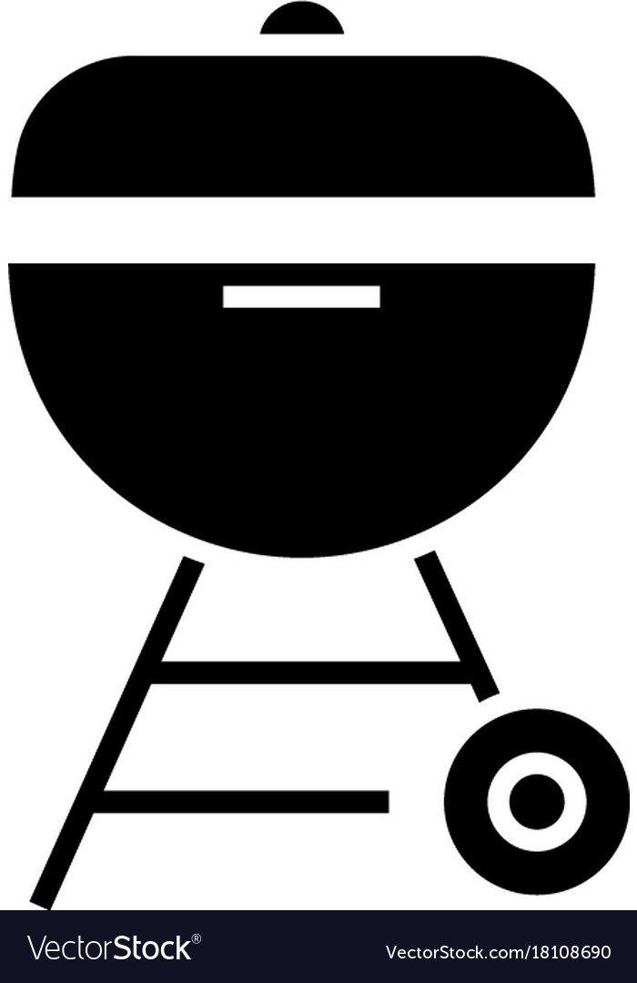 Grill charcoal icon black