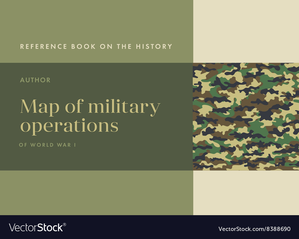 Khaki book cover vector image