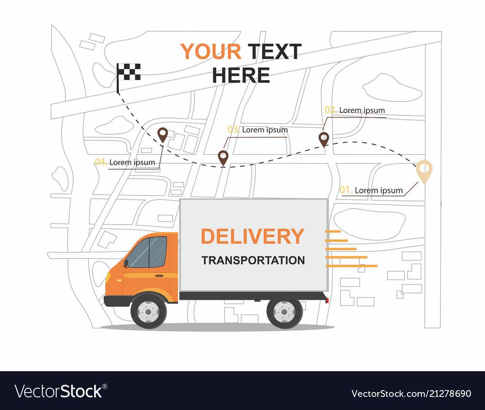 orange cargo delivery transporation royalty free vector