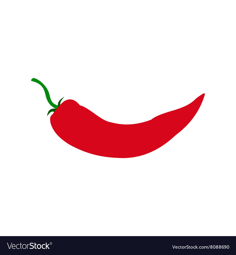 Red hot chili pepper icon flat style