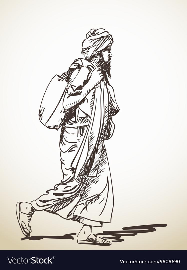 Sadhu vector image