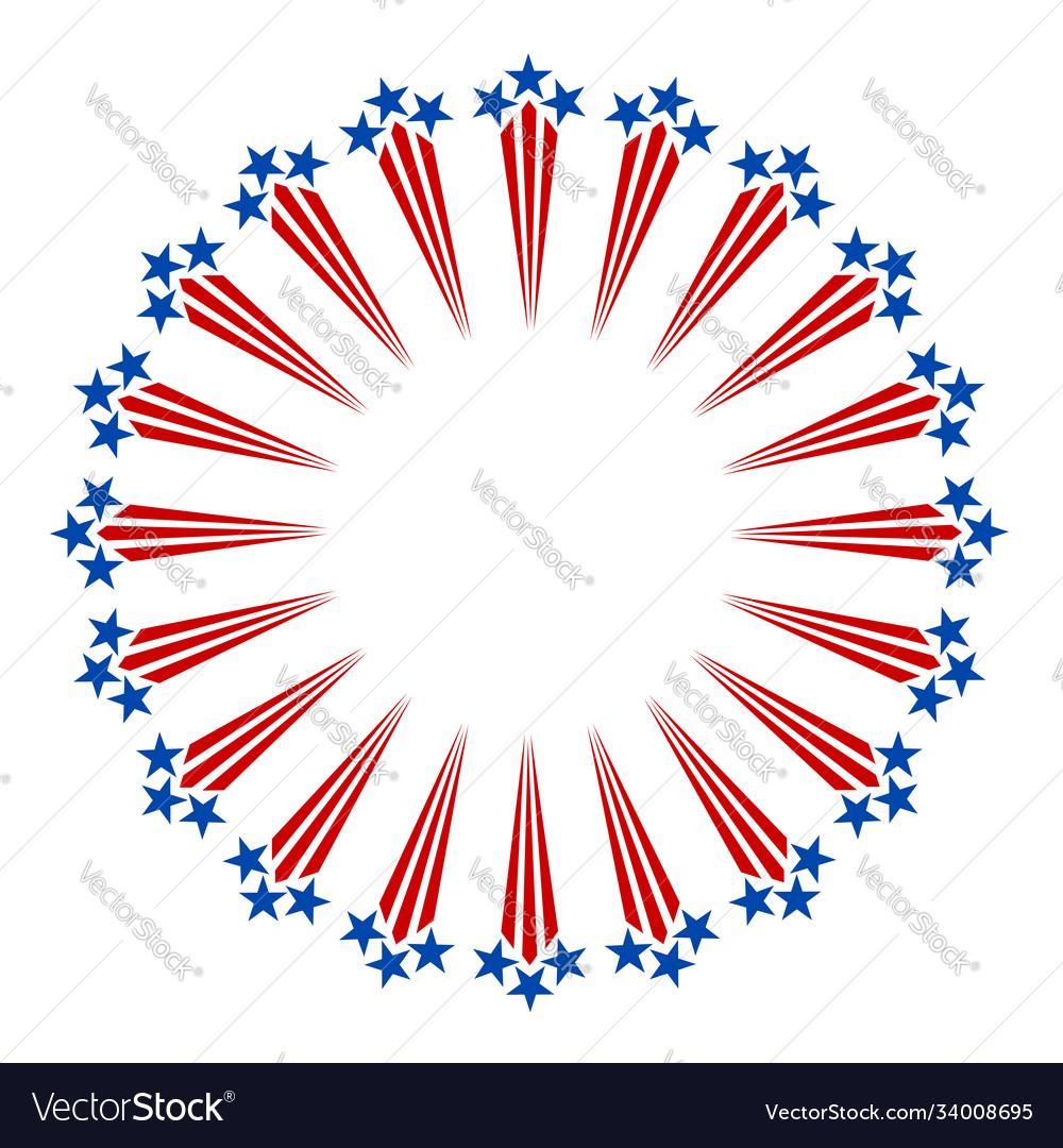 American symbols fireworks frame
