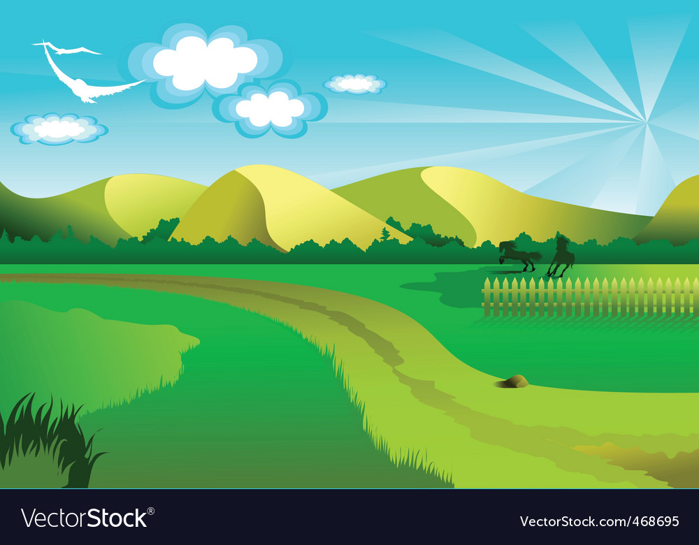 Background nature vector image
