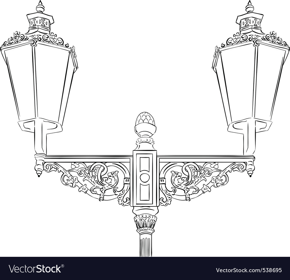 Baroque lamp isolated on the white