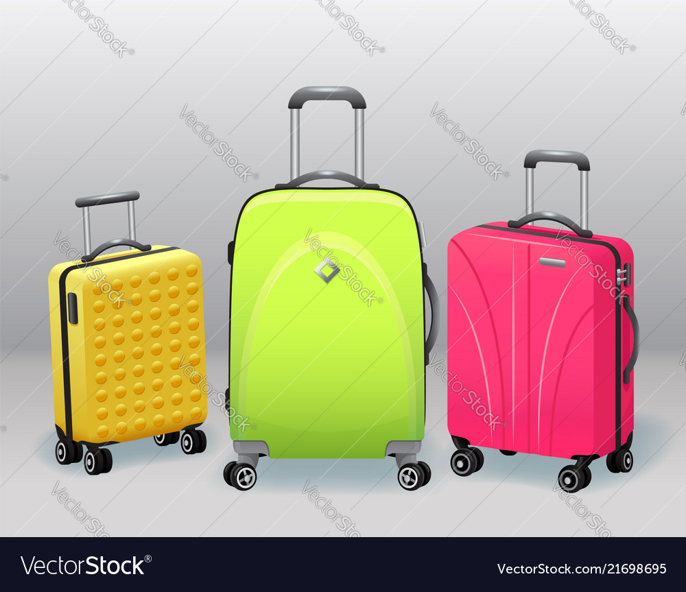Business and family vacation travel luggage vector