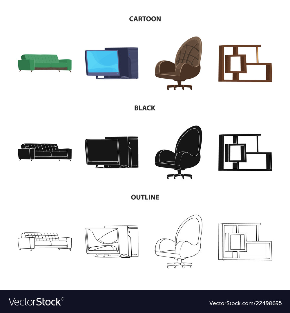 Furniture and work icon