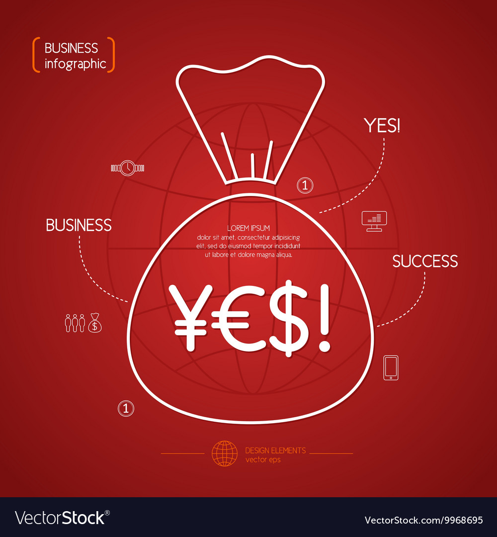 Income and Success Business Infographics