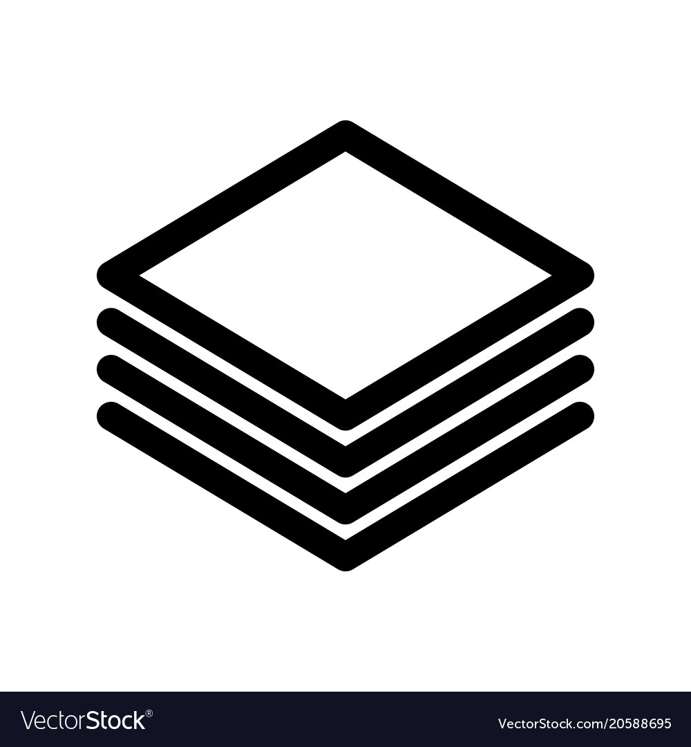 Layers or stack of papers icon outline modern
