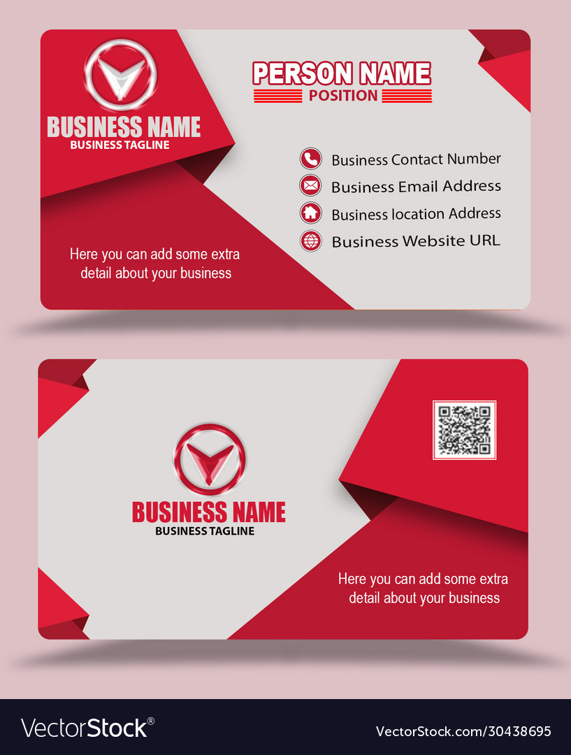 Pink color business card template psd Royalty Free Vector Within Template Name Card Psd