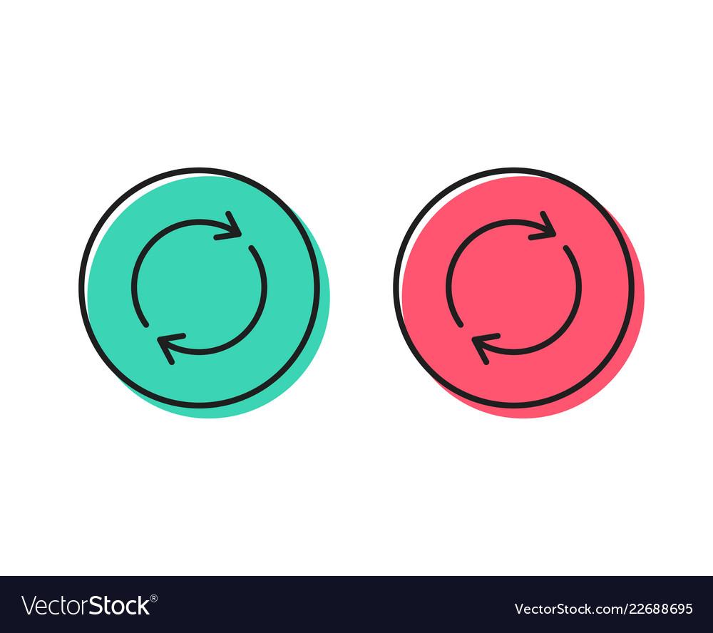 Refresh line icon rotation arrow sign