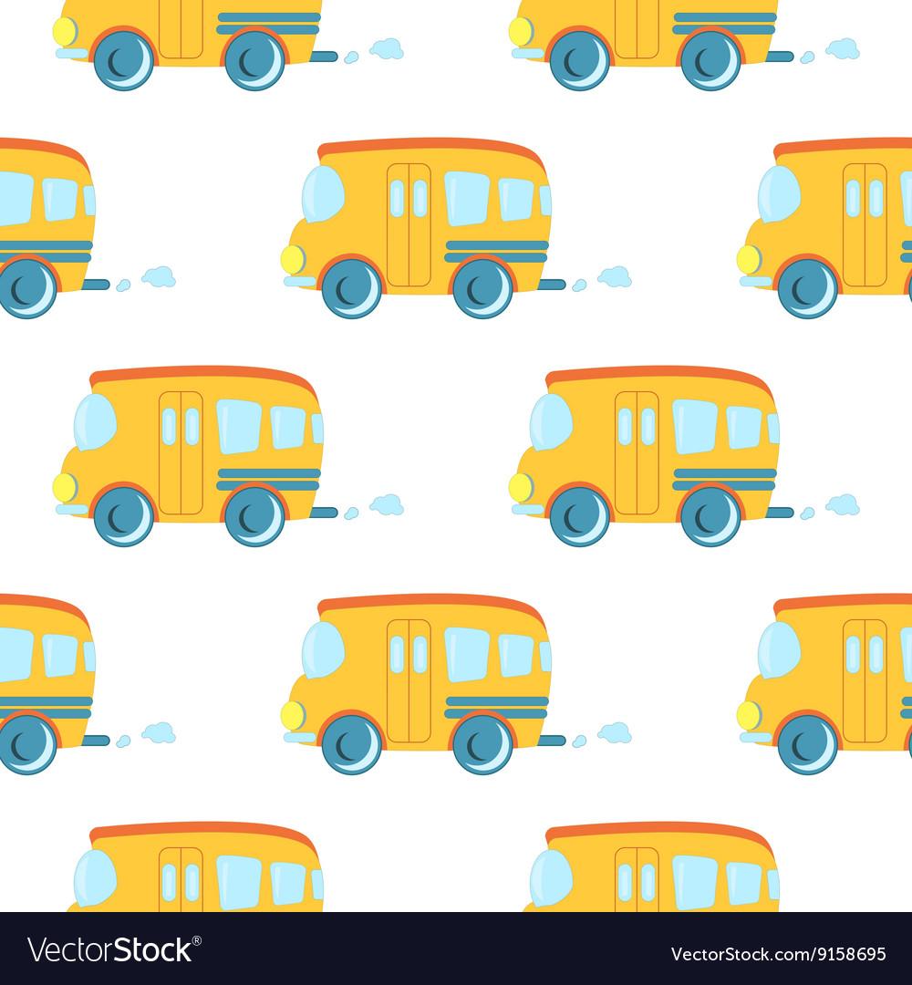 Seamless pattern of cartoon cars
