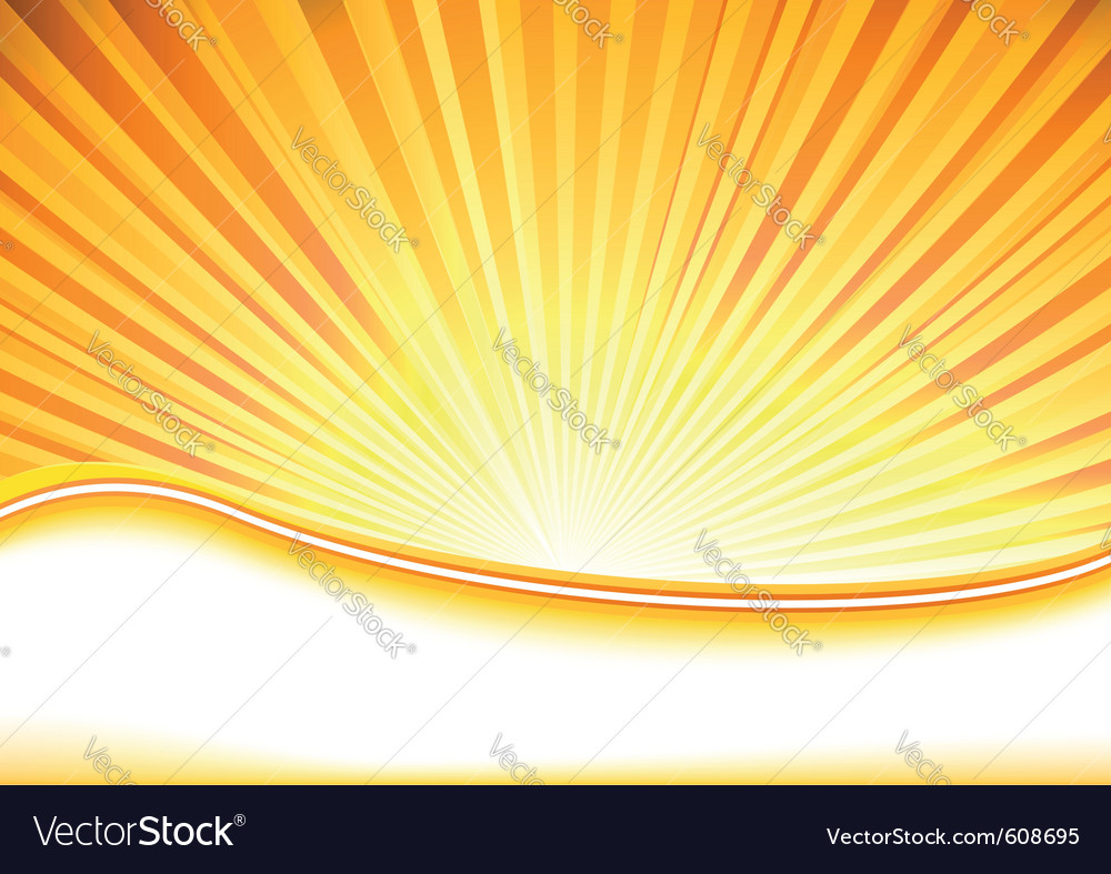 Summer banner full of shine vector image