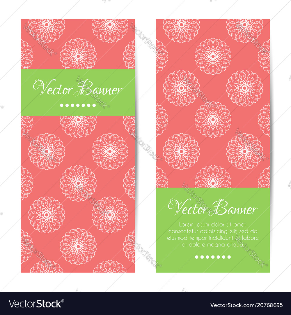 Vertical summer banners round ornament