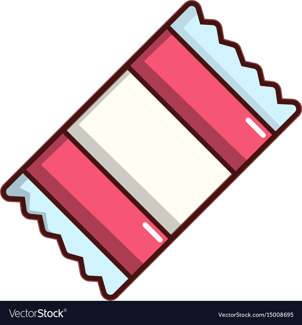 Wrapped candy icon cartoon style