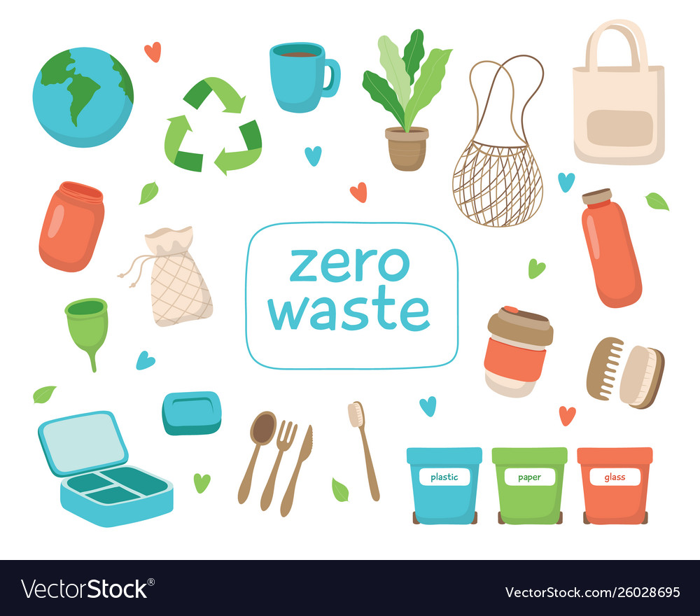 Zero waste concept with different