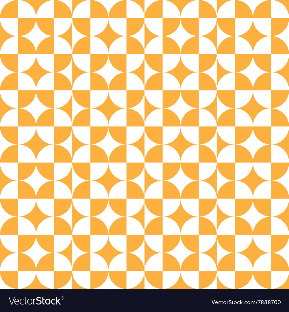 Abstract circle square pattern orange vector