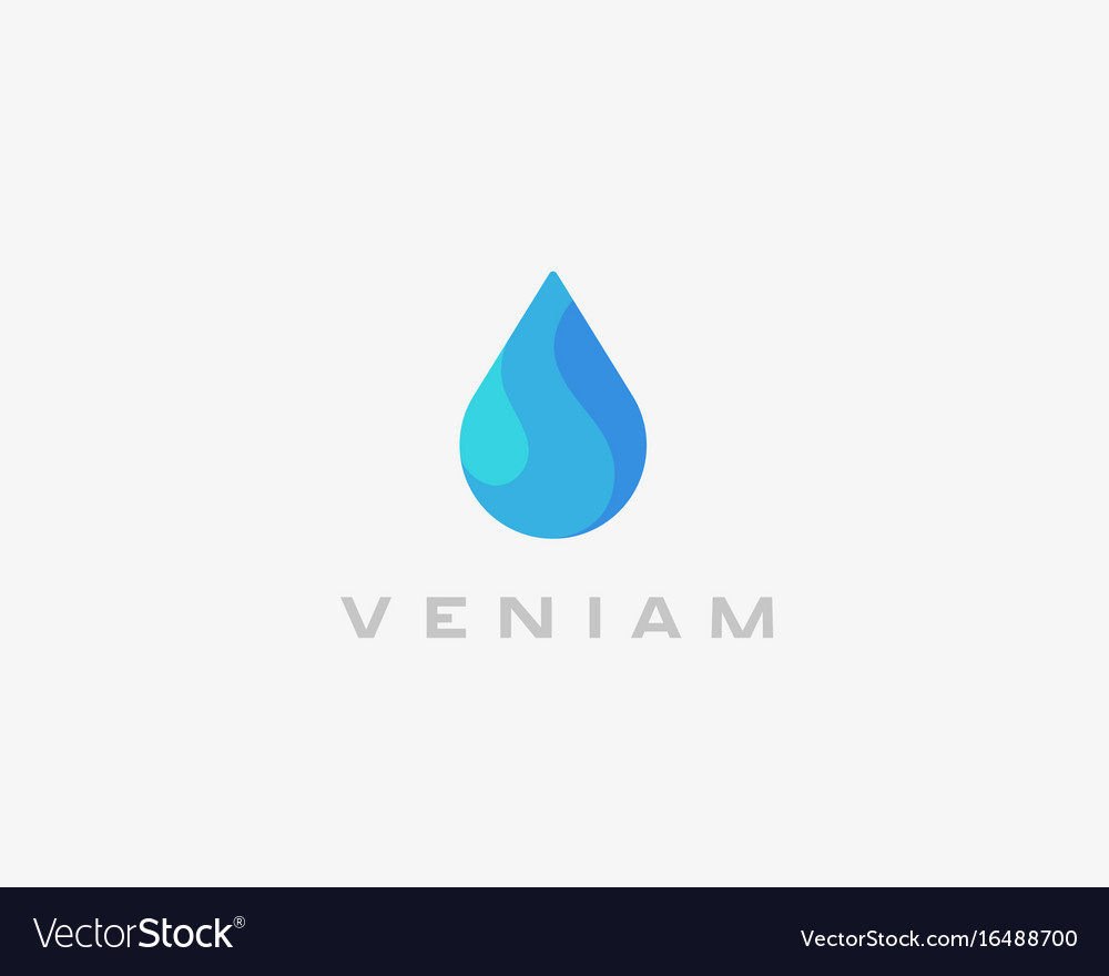 Abstract water aqua logo design water drop vector image