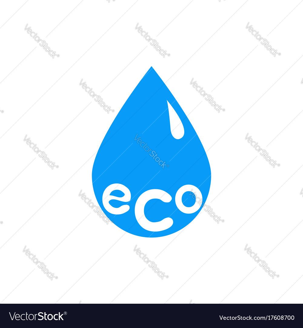 Eco drop icon