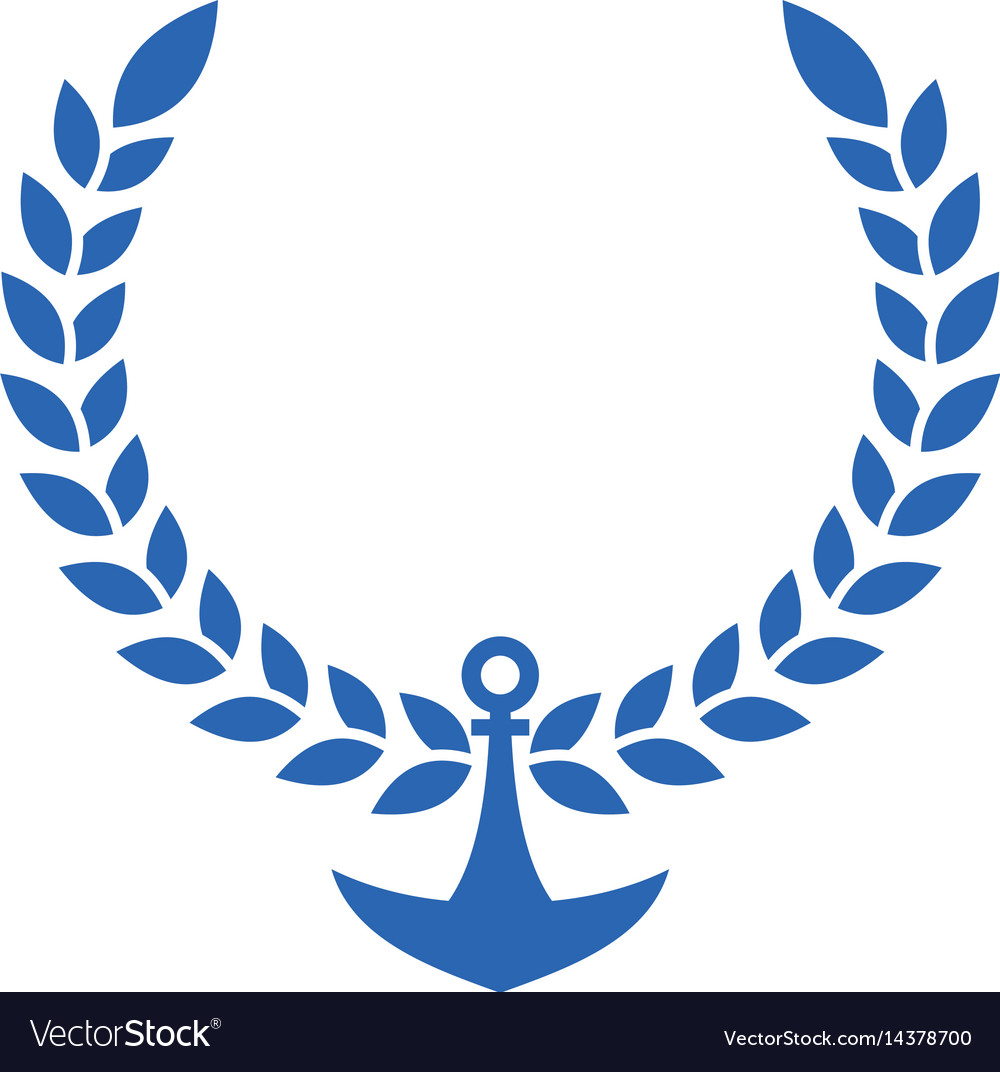 Law logo with wreath
