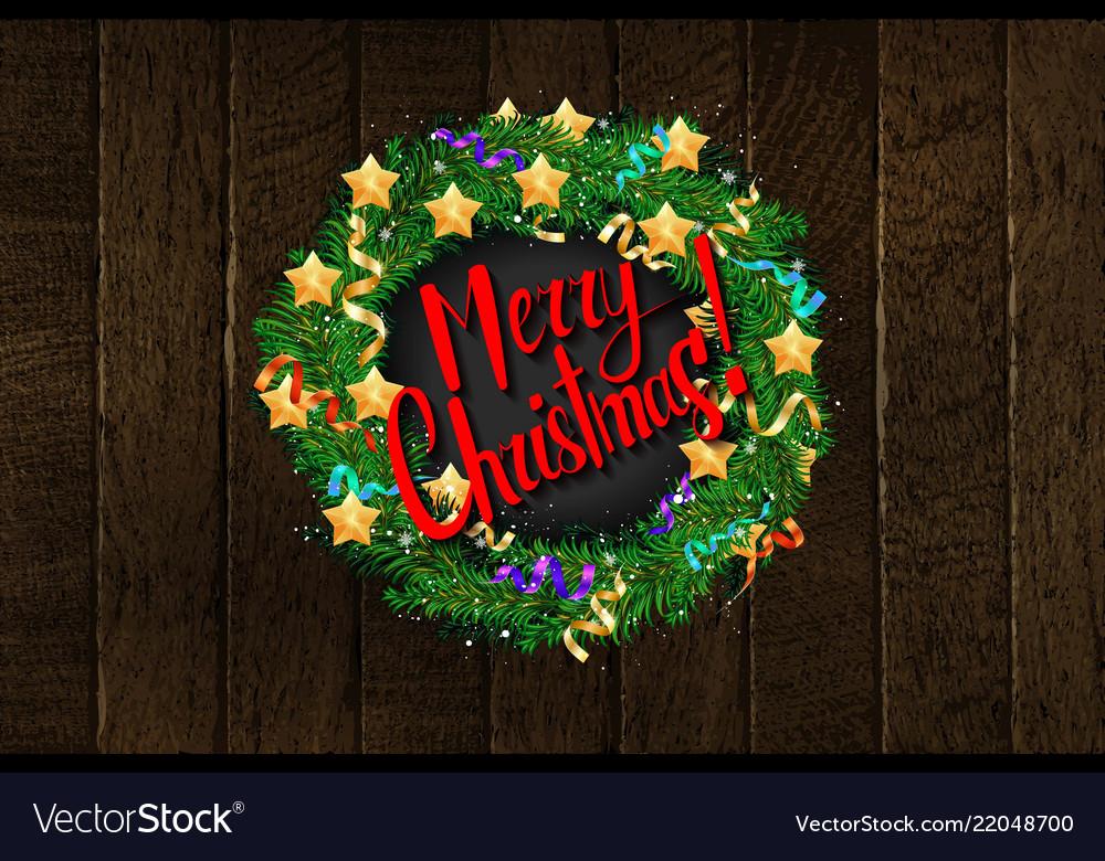 Merry christmas template card