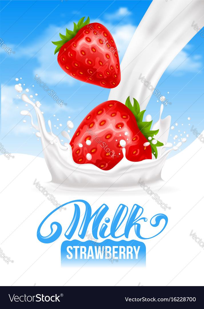 Milk splash vector image