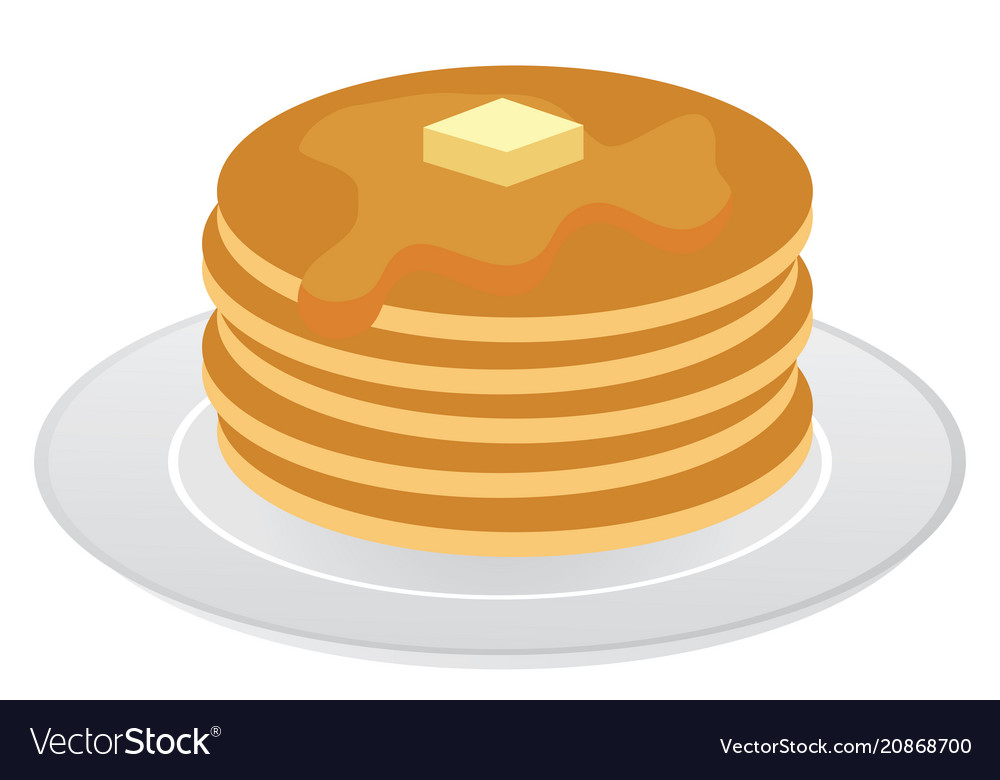 Pancakes isolated