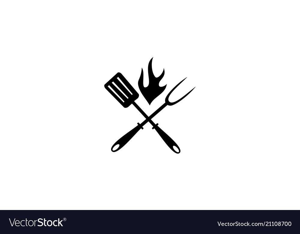 Restaurant barbeques logo design template