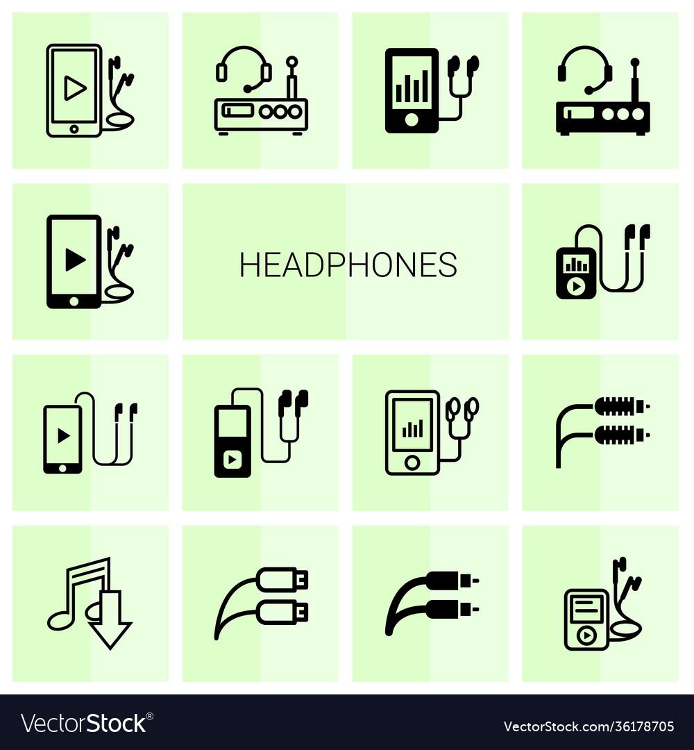 14 headphones icons