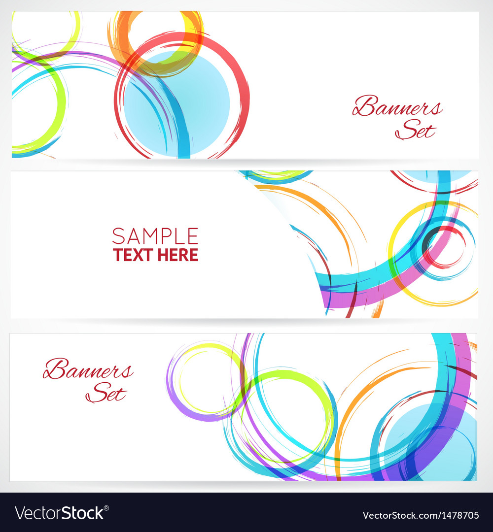 Banners set of abstract colorful background with