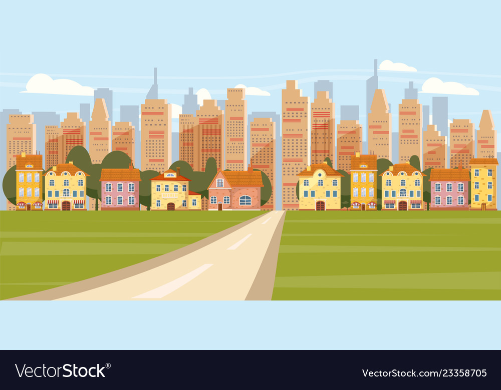 Cityscape background modern city panorama with