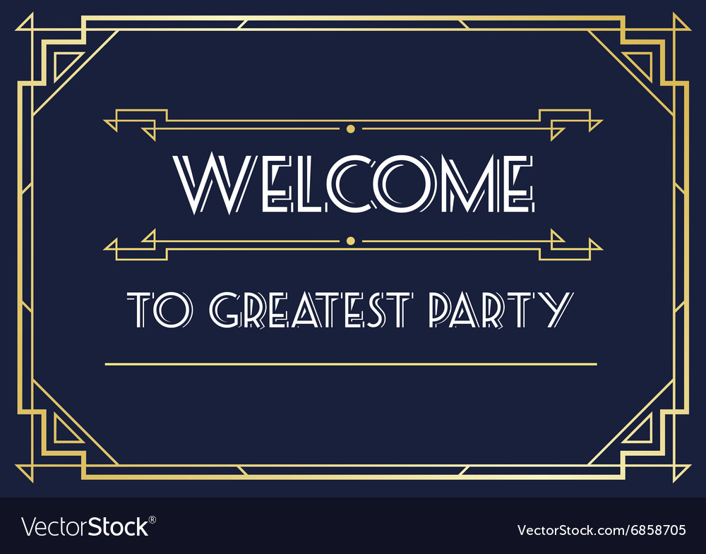 Gatsby style invitation in art deco or nouveau vector image stopboris