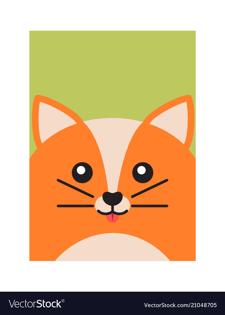 Happy fox colorful banner