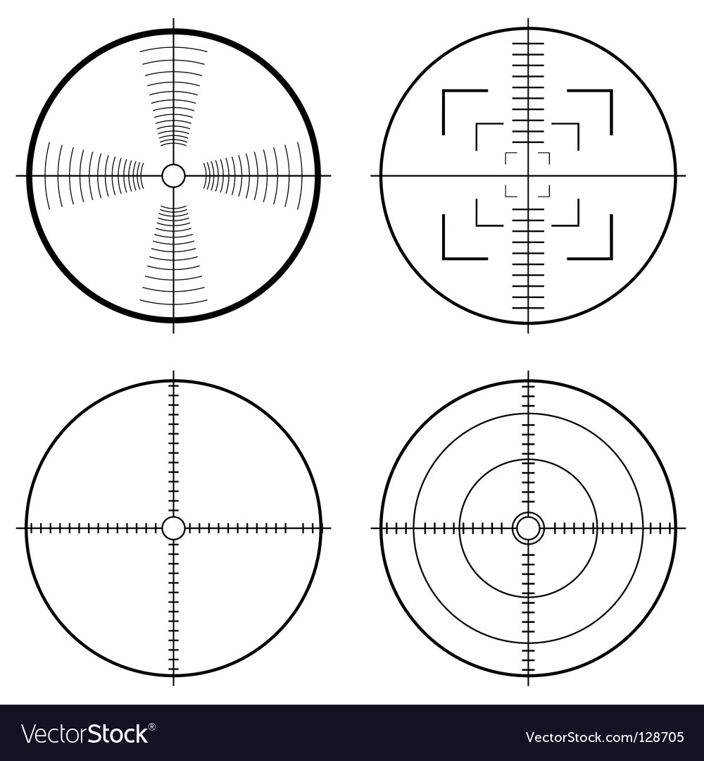 Hunting sight target vector image