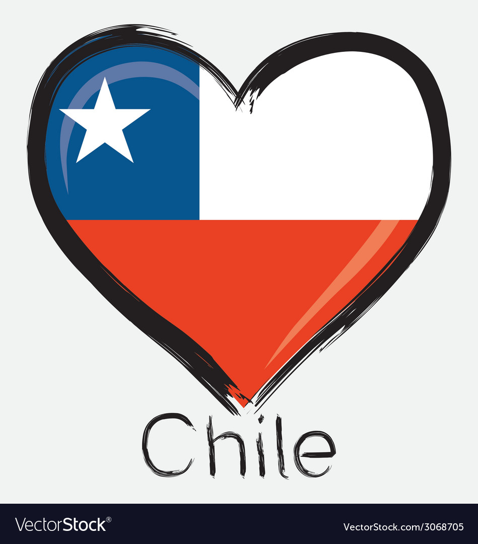 love chile flag royalty free vector image vectorstock