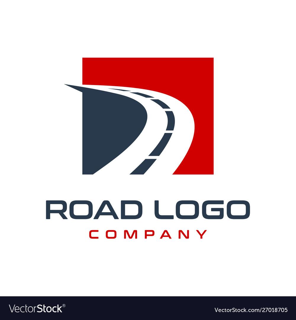 Road Logo Design Royalty Free Vector Image Vectorstock